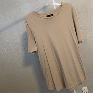 Men's Taupe PacSun Long-Fit Tee!